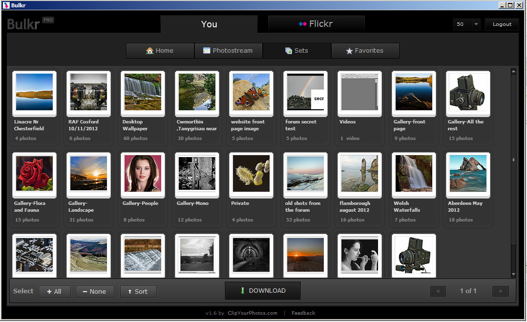 Downloading originals from my flickr account