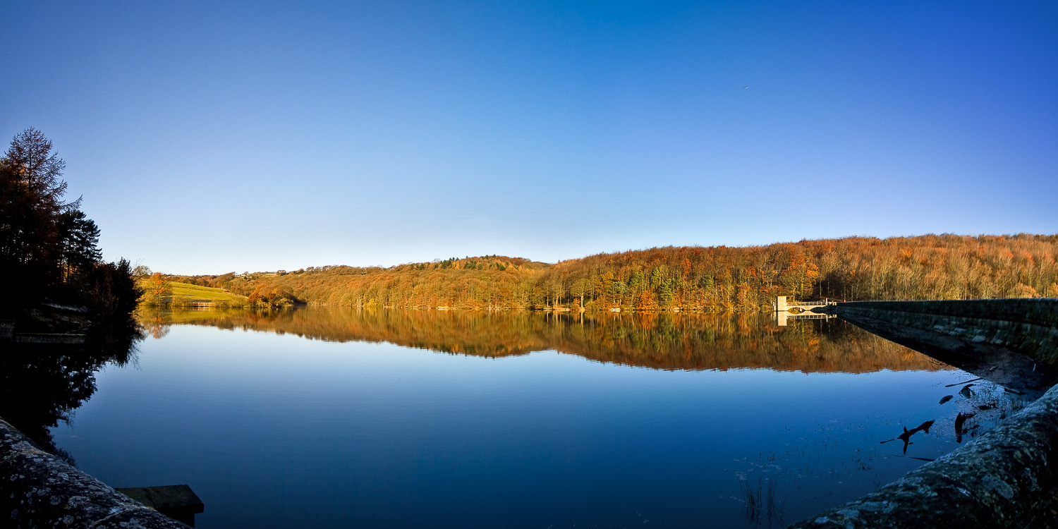 Linacre Nr Chesterfield on a cold and cloudless morning
