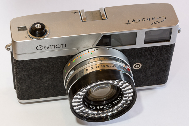 A gift a Canon Canonet Rangefinder