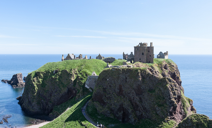 Dunnottar Castle panorama from 23 frames