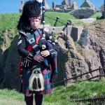 Scottish Piper at Dunnottar Castle