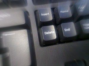 Delete key highlight