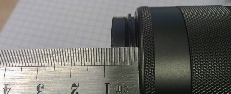 DIY quick change filter holder for EOS-M