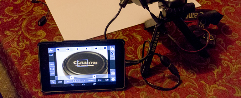 Nexus 7 with DSLR Controller App
